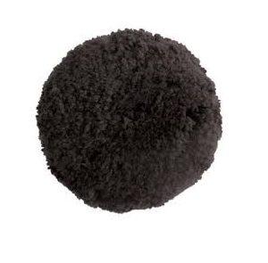 "Heavy Cut Double Sided 100% Wool Black 6"" Pad"